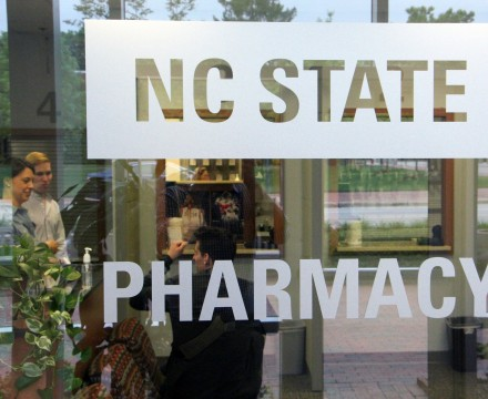 Image of NC State pharmacy entrance